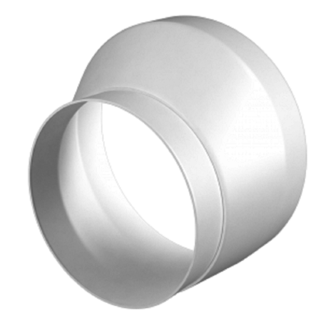 Verloopstuk - Ø100mm naar Ø125mm - asymmetrisch