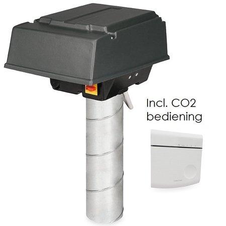 Orcon Pijpdakventilator MPV-10WR - 380m3/h - Ø125mm - CO2 bediening