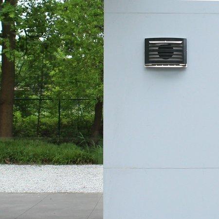 Paneir PREMIUM LINE design gevelkap -ALFA- Ø100mm - grofmazig gaas - ZWART RAL7021