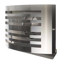 PREMIUM LINE design gevelkap -ALFA- Ø125mm - grofmazig gaas - RVS