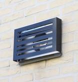 Paneir PREMIUM LINE design gevelkap -BETA- Ø125mm - grofmazig gaas - ZWART RAL7021