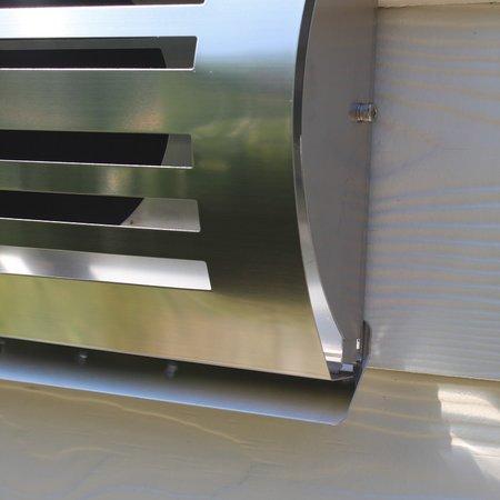 Paneir PREMIUM LINE design gevelkap -DELTA- Ø100mm - grofmazig gaas - RVS