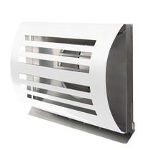 PREMIUM LINE design gevelkap -DELTA- Ø100mm - grofmazig gaas - WIT RAL9010