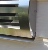 Paneir PREMIUM LINE design gevelkap -DELTA- Ø125mm - grofmazig gaas - RVS