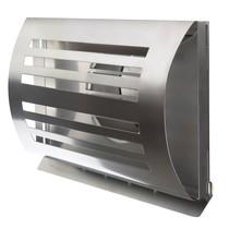 PREMIUM LINE design gevelkap -DELTA- Ø125mm - grofmazig gaas - RVS