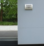 Paneir PREMIUM LINE design gevelkap -DELTA- Ø125mm - grofmazig gaas - WIT RAL9010