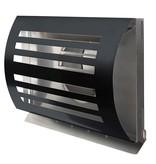 Paneir PREMIUM LINE design gevelkap -DELTA- Ø125mm - grofmazig gaas - ZWART RAL7021
