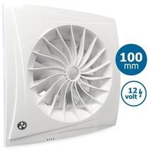 Badkamer/toilet ventilator SILEO 12 VOLT - Ø100mm