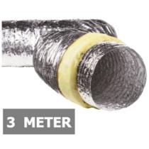 Geïsoleerde flexibele slang - Ø125mm - 3 meter