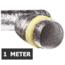Geïsoleerde flexibele slang - Ø160mm - 1 meter - aluminium