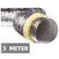 Geïsoleerde flexibele slang - Ø200mm - 3 meter - aluminium
