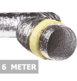 Geïsoleerde flexibele slang - Ø200mm - 6 meter - aluminium
