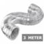 Ongeïsoleerde flexibele slang - Ø125mm - 3 meter - aluminium