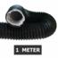 Ongeïsoleerde zwarte flexibele slang - Ø150mm - 1 meter