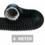 Ongeïsoleerde zwarte flexibele slang - Ø180mm - 6 meter