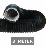 Ongeïsoleerde zwarte flexibele slang - Ø200mm - 3 meter