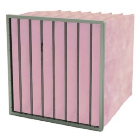 FilterFabriek Huismerk Zakkenfilter met glasvezelmedium 288x592x600mm - 4 zakken – F7 klasse