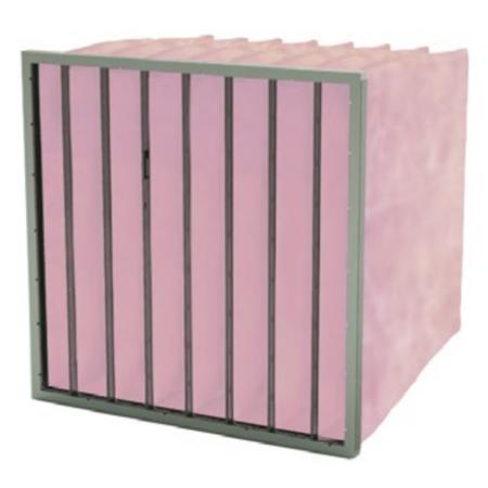 FilterFabriek Huismerk Zakkenfilter met glasvezelmedium 592x592x600mm - 8 zakken – F7 klasse