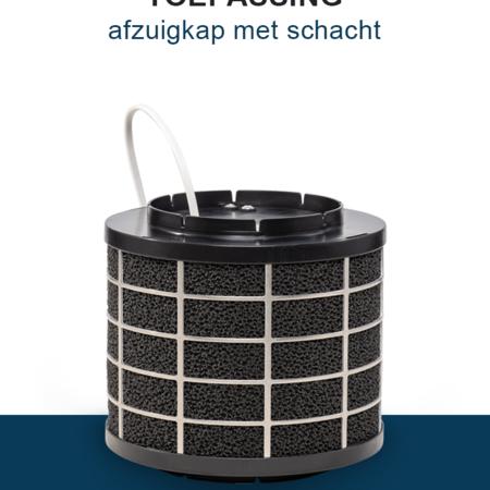 PuriVent PuriVent SILO filter voor afzuigkap met schacht - 400 m3/h - Ø150mm