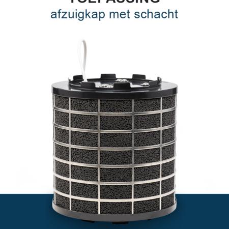 PuriVent PuriVent SILO filter voor afzuigkap met schacht - 600 m3/h - Ø150mm