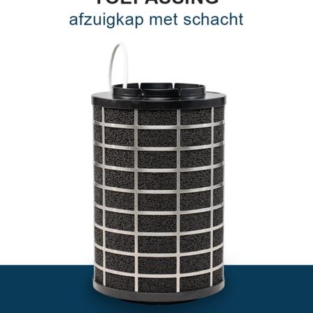 PuriVent PuriVent SILO filter voor afzuigkap met schacht - 800 m3/h - Ø150mm
