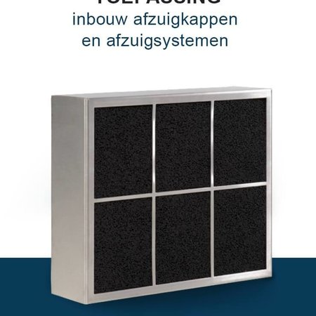 PuriVent PuriVent CARRE filter voor inbouw afzuigkap - 400 m3/h - 210 x 250mm - Ø150mm