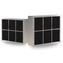 CARRE filter - inbouw afzuigkap - 400 m3/h - 250 x 250mm -  Ø150mm