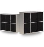 PuriVent PuriVent CARRE filter voor inbouw afzuigkap - 500 m3/h - 210 x 250mm - Ø150mm