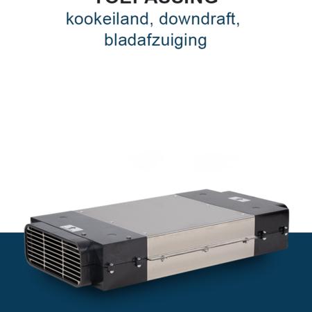 PuriVent PuriVent DOMINO filter voor kookplaat met ingebouwde afzuiging - 1200 m3/h - 220 x 90mm