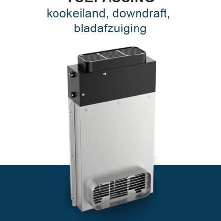 PuriVent PuriVent DOMINO filter voor kookplaat met ingebouwde afzuiging - 950 m3/h - 220 x 90mm