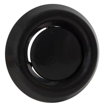 Nedco Luchtventiel kunststof zwart - afvoer - Ø100mm
