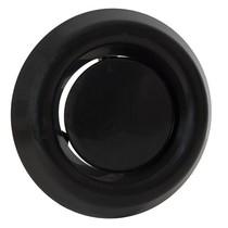 Luchtventiel kunststof zwart - afvoer - Ø125mm