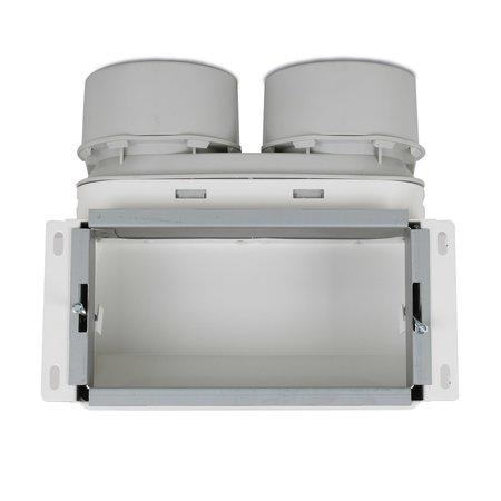 Vent-Axia Vent-Axia Uniflexplus + wandollector - 2x Ø90mm - boven aansluiting