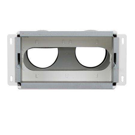Vent-Axia Vent-Axia Uniflexplus + wandollector - 2x Ø90mm - achter aansluiting