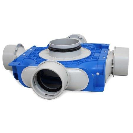 Vent-Axia Vent-Axia Uniflexplus + instortverdeler - 4x Ø90mm zijaansluiting - Ø125mm