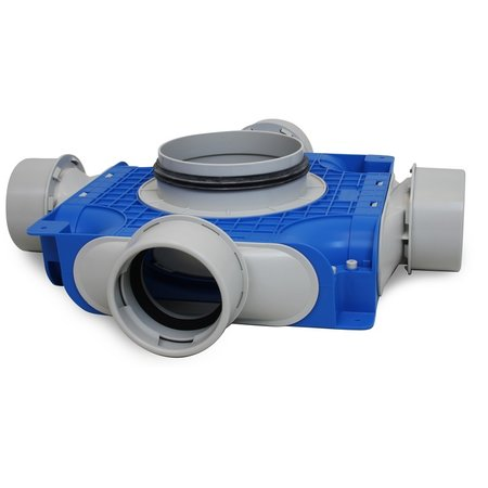 Vent-Axia Vent-Axia Uniflexplus + instortverdeler - 4x Ø90mm zijaansluiting - Ø160mm