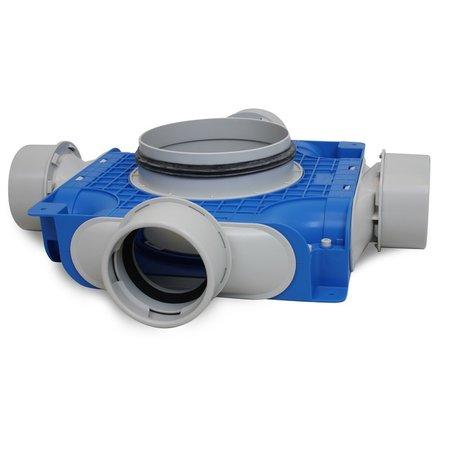 Vent-Axia Vent-Axia Uniflexplus + instortverdeler - 4x Ø90mm zijaansluiting - Ø180mm