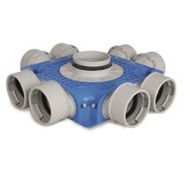 Uniflexplus + instortverdeler - 8x Ø90mm zijaansluiting - Ø125mm
