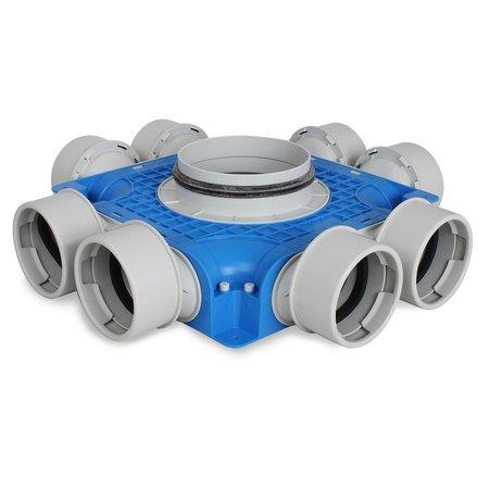 Vent-Axia Vent-Axia Uniflexplus + instortverdeler - 8x Ø90mm zijaansluiting - Ø160mm