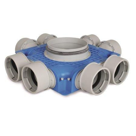 Vent-Axia Vent-Axia Uniflexplus + instortverdeler - 8x Ø90mm zijaansluiting - Ø180mm