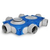 Uniflexplus + instortverdeler - 6x Ø90mm zijaansluiting - Ø125mm