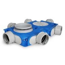 Uniflexplus + instortverdeler - 6x Ø90mm zijaansluiting - Ø180mm