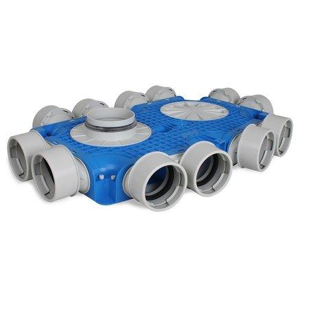 Vent-Axia Vent-Axia Uniflexplus + instortverdeler - 12x Ø90mm zijaansluiting - Ø125mm