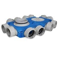 Uniflexplus + instortverdeler - 12x Ø90mm zijaansluiting - Ø160mm