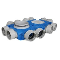 Uniflexplus + instortverdeler - 12x Ø90mm zijaansluiting - Ø180mm
