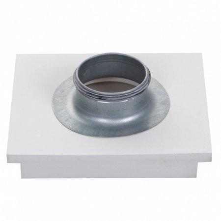 SQUARE - Instucbaar frameloos ventiel - Ø125mm - TOEVOER & AFVOER