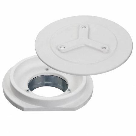 SIDE rond - Instucbaar frameloos ventiel - Ø100mm - TOEVOER & AFVOER