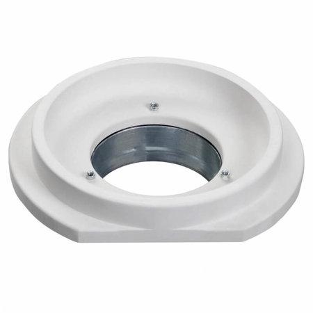 SIDE vierkant - Instucbaar frameloos ventiel - Ø100mm - TOEVOER & AFVOER