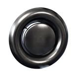 Rooster/ventiel Ø100mm staal - afvoer - met bus - zwart
