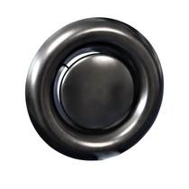 Rooster/ventiel Ø125mm staal - afvoer - met veer - zwart